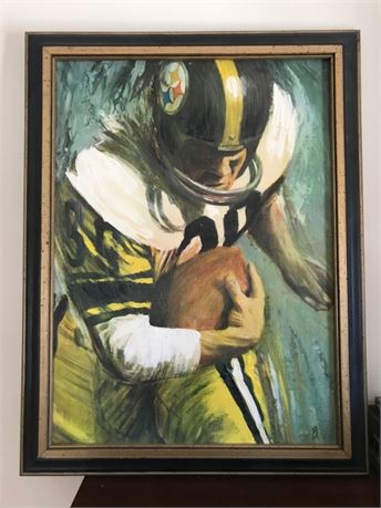 1960s Dave Boss PITTSBURGH STEELERS NFL Football Similart Painting on Canvas