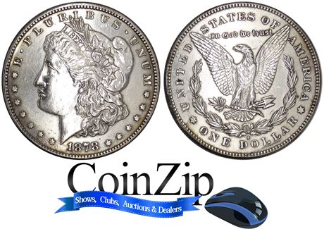 1878-S Morgan Silver Dollar About Uncirculated (cleaned)