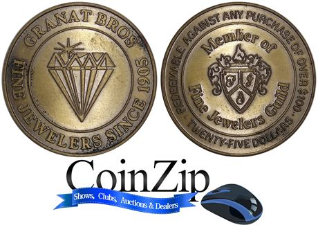 Grant Brothers Jewelers $25 Token